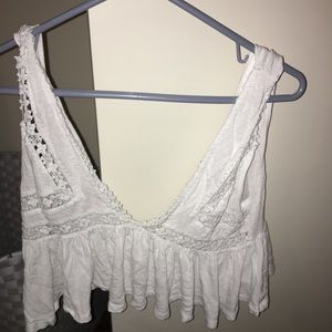 White flowy tank top